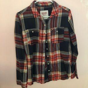 Plaid button down flannel